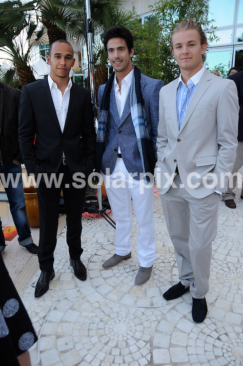 **ALL ROUND PICTURES FROM SOLARPIX.COM**.**WORLDWIDE SYNDICATION RIGHTS**.Amber loung fashion show featuring Liz Hurley Swimwear at La Maridien Hotel in Monaco, France..This pic:    Lewis Hamilton.JOB REF:     11255   MSR    DATE:   15.05.10.**MUST CREDIT SOLARPIX.COM OR DOUBLE FEE WILL BE CHARGED**.**MUST NOTIFY SOLARPIX OF ONLINE USAGE**.**CALL US ON: +34 952 811 768 or LOW RATE FROM UK 0844 617 7637**