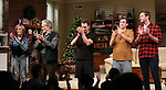 Kate Bornstein, Stephen Payne, Josh Charles, Paul Schneider and Armie Hammer during the Broadway opening night curtain Call of 'Straight White Men' at Hayes Theater on July 23, 2018 in New York City.