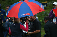 Sky Sports interview; Shane Lowry (IRL) is Champion Golfer of the Year after the Final Round of the 148th Open Championship, Royal Portrush Golf Club, Portrush, Antrim, Northern Ireland. 21/07/2019. Picture David Lloyd / Golffile.ie<br /> <br /> All photo usage must carry mandatory copyright credit (© Golffile | David Lloyd)