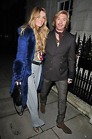 Kelly Simpkin and Nicky Clarke at the George Michael Collection VIP private view &amp; reception, Christie's London, King Street Saleroom, King Street, London, England, UK, on Tuesday 12th March 2019.<br /> CAP/CAN<br /> &copy;CAN/Capital Pictures