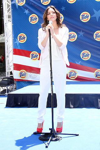 Katharine McPhee at the Tide 6000 sq ft. American Flag unveiling to kick off the Olympic Games. Bryant Park, New York City. July 3, 2012. © RW/MediaPunch Inc.