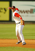 August 30 2008:  Casey Kelly of the Lowell Spinners, Class-A affiliate of the Boston Red Sox, during a game at LeLacheur Park in Lowell, MA.  Photo by:  Ken Babbitt/Four Seam Images