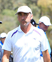 John Wade (AUS) on the 9th green during Round 1 of the ISPS HANDA Perth International at the Lake Karrinyup Country Club on Thursday 23rd October 2014.<br /> Picture:  Thos Caffrey / www.golffile.ie