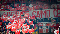 Red Star Belgrade supporters ahead of the UEFA Europa League group stage match between Arsenal and FC Red Star Belgrade at the Emirates Stadium, London, England on 2 November 2017. Photo by PRiME Media Images.