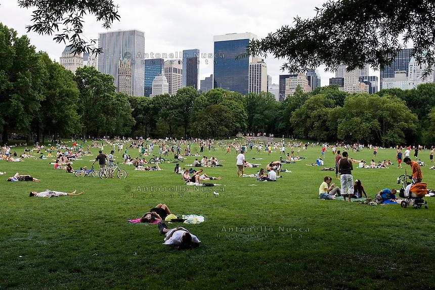 New York, Usa, Giugno 2007. Pic nic a Central Park