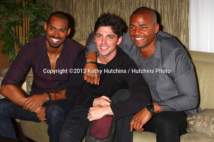 LOS ANGELES - FEB 27:  Lamon Archey, Robert Adamson, Redaric Williams at the Hot New Faces of the Young and the Restless press event at the CBS Television City on February 27, 2013 in Los Angeles, CA