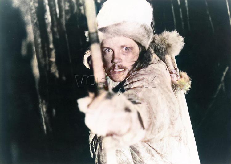 """Кадр из фильма """"Проводник"""" (1987), Норвегия; Режиссер: Нильс Гёуп; В ролях: Миккел Гауп, Свейн Шарффенберг, Анне-Марья Блинд. / Filmstill """"Ofelas"""" (1987), Norway; Director: Nils Gaup; Stars: Mikkel Haup, Svein Scharffenberg, Anne Marya Blind;"""
