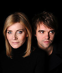 """Michelle Collins and Rupert Hill, """"Deceptions"""" poster shoot"""