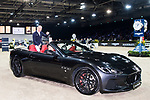 Michael Whitaker of Great Britain riding Valentin R celebrates winning the Maserati Masters Power with a Maserati car during the Longines Masters of Hong Kong at AsiaWorld-Expo on 10 February 2018, in Hong Kong, Hong Kong. Photo by Diego Gonzalez / Power Sport Images