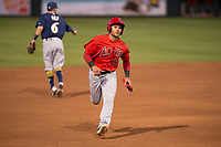 Los Angeles Angels center fielder Michael Hermosillo (84) during a Minor League Spring Training game against the Milwaukee Brewers at Tempe Diablo Stadium on March 29, 2018 in Tempe, Arizona. (Zachary Lucy/Four Seam Images)