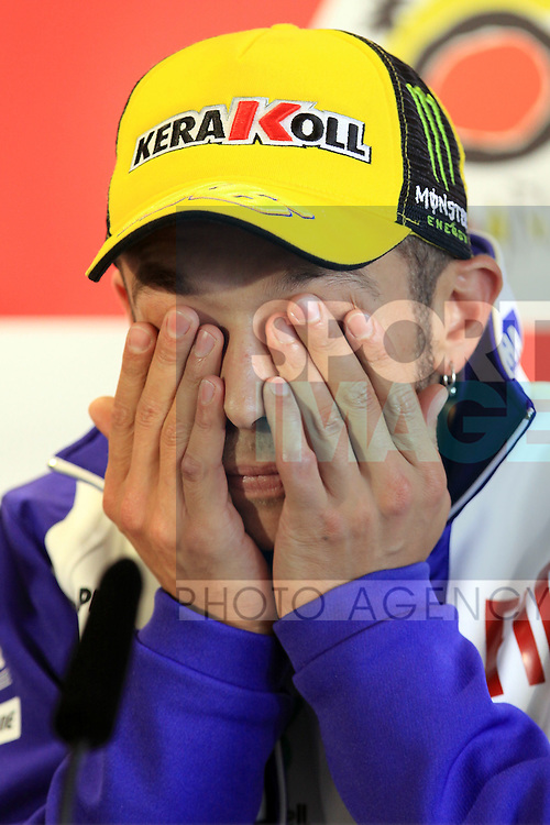 Valentino Rossi ITA (Fiat Yamaha Team - Yamaha) at the Qualifying press conference