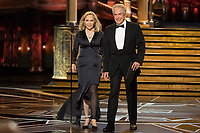 Warren Beatty (right) and Faye Dunaway present the Oscar&reg; for best picture motion picture of the year during the live ABC Telecast of The 90th Oscars&reg; at the Dolby&reg; Theatre in Hollywood, CA on Sunday, March 4, 2018.<br /> *Editorial Use Only*<br /> CAP/PLF/AMPAS<br /> Supplied by Capital Pictures