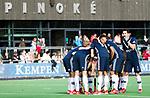 AMSTELVEEN - teamhuddle, bespreking bij strafcorner Pinoke,   Hoofdklasse competitie heren. Pinoke-SCHC (0-1) . COPYRIGHT  KOEN SUYK