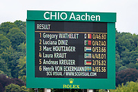 The Final Standings for the Rolex Grand Prix Springprüfung - Der Große Preis von Aachen. 2017 GER-CHIO Aachen Weltfest des Pferdesports. Sunday 23 July. Copyright Photo: Libby Law Photography