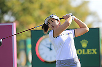 Su Oh (AUS) tees off the 6th tee during Thursday's Round 1 of The Evian Championship 2018, held at the Evian Resort Golf Club, Evian-les-Bains, France. 13th September 2018.<br /> Picture: Eoin Clarke | Golffile<br /> <br /> <br /> All photos usage must carry mandatory copyright credit (© Golffile | Eoin Clarke)