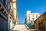 Street in the old town of Valletta, Malta