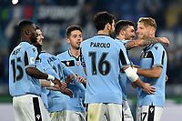 Ciro Immobile of  Lazio celebrates after scoring a goal on penalty<br /> Roma 14-1-2020 Stadio Olimpico <br /> Football Coppa Italia 2019/2020 <br /> SS Lazio - Cremonese <br /> Foto Antonietta Baldassarre / Insidefoto