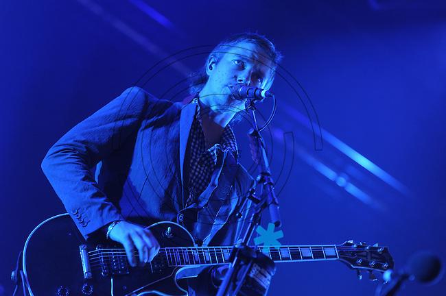 Highfield-Festival 2011 am Störmthaler See. im Bild: Interpol, Paul Banks. Foto: Alexander Bley