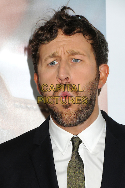 "Chris O'Dowd.""This Is 40"" Los Angeles Premiere held at Grauman's Chinese Theatre, Hollywood, California, USA..December 12th, 2012.headshot portrait black white shirt tie green beard facial hair mouth open cheeks lips blowing funny .CAP/ADM/BP.©Byron Purvis/AdMedia/Capital Pictures."