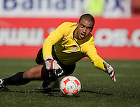 Earl Edwards makes the save. The Under-17 US Men's National Team defeated Cuba 5-0 at the 2009 CONCACAF Under-17 Championship April 21, 2009 in Tijuana, Mexico.