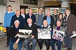 Enjoying the opening of the Killorglin historical exhibition in Killorglin on Good Friday front row l-r: Joe O'Dwyer, Donal O'Sullivan, Pat Rochfort, Gene Mangan. Back row: John knightly, Terence Houlihan, James Ferris, Enza Crowley, Johnny Porridge O'Connor, Patrick O'Connor, Stephen Thompson Tracy Spencer and Donal Mangan