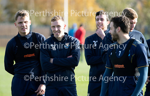 St Johnstone Training…19.10.18   McDiarmid Park, Perth<br />Striker David McMillan pictured in training this morning ahead of tomorrow's game at Motherwell<br />Picture by Graeme Hart.<br />Copyright Perthshire Picture Agency<br />Tel: 01738 623350  Mobile: 07990 594431