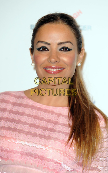 ELEN RIVES.Prima High Street Fashion Awards, Battersea Evolutions, Battersea Park, London, England..September 8th, 2011.headshot portrait pink stripe eyeliner make-up beauty .CAP/WIZ.© Wizard/Capital Pictures.