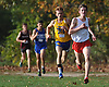 Peter Zimbalist of Syosset, right, moves to the front with about 300 meters to go in the Nassau County Class I varsity boys cross country championship at Bethpage State Park on Saturday, Oct. 29, 2016.