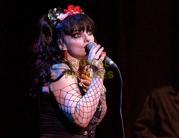 NINA HAGEN.performs live at The Galaxy Theatre in Santa Ana, California  .25 February 2004                 .*UK Sales Only*.music, live, concert, stage, gig, singing.www.capitalpictures.com.sales@capitalpictures.com.©Capital Pictures.