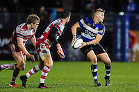 Jack Walker of Bath Rugby looks to pass the ball. Anglo-Welsh Cup match, between Bath Rugby and Gloucester Rugby on January 27, 2017 at the Recreation Ground in Bath, England. Photo by: Patrick Khachfe / Onside Images