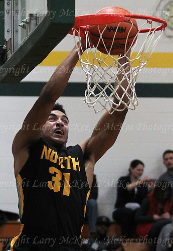 Alex Darden. North Farmington at Farmington Hills Harrison, Boys Varsity Basketball, January 8, 2016. Photos: Larry McKee, L McKee Photography. PLEASE NOTE: ALL PHOTOS ARE CUSTOM CROPPED. THIS CAN CAUSE EXTRA WHITE SPACE AROUND BORDERS. BEFORE PURCHASING AN IMAGE, PLEASE CHOOSE PROPER PRINT FORMAT TO BEST FIT IMAGE DIMENSIONS.  L McKee Photography, Clarkston, Michigan. L McKee Photography, Specializing in Action Sports, Senior Portrait and Multi-Media Photography. Other L McKee Photography services include business profile, commercial, event, editorial, newspaper and magazine photography. Oakland Press Photographer. North Oakland Sports Chief Photographer. L McKee Photography, serving Oakland County, Genesee County, Livingston County and Wayne County, Michigan. L McKee Photography, specializing in high school varsity action sports and senior portrait photography.