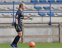 20190807 - DENDERLEEUW, BELGIUM : Linfield's goalkeeper Lauren Perry pictured during the female soccer game between the Norwegian LSK Kvinner Fotballklubb Ladies and the Northern Irish Linfield ladies FC , the first game for both teams in the Uefa Womens Champions League Qualifying round in group 8 , Wednesday 7 th August 2019 at the Van Roy Stadium in Denderleeuw  , Belgium  .  PHOTO SPORTPIX.BE for NTB  | DAVID CATRY