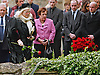 """HIS WIDOW DWINA PLACES A ROSE.ROBIN GIBB FUNERAL.Robin who died after a lon-running battle with cancer aged 62, was buried at St. mary's Church , Thame, Oxfordshire..Brother Barry Gibb,65, the last surviving member of the Bee Gees was joined by family members for the funeral service..Celebrity guests who attended the funeral included Peter Andre, Tim Rice, Susan George and Leslie Phillips_08/06/2012.Mandatory Credit Photo: ©NEWSPIX INTERNATIONAL..**ALL FEES PAYABLE TO: """"NEWSPIX INTERNATIONAL""""**..IMMEDIATE CONFIRMATION OF USAGE REQUIRED:.Newspix International, 31 Chinnery Hill, Bishop's Stortford, ENGLAND CM23 3PS.Tel:+441279 324672  ; Fax: +441279656877.Mobile:  07775681153.e-mail: info@newspixinternational.co.uk"""