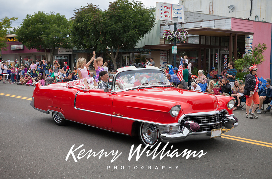 Red Cadillac, Independence Day Parade 2016, Burien, Washington, USA.
