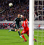 Nederland, Amsterdam, 3 oktober  2012.Seizoen 2012-2013.Champions League.Ajax_Real Madrid.Christiano Ronaldo van Real Madrid scoort de 1-4