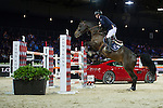Denis Lynch on Ho Go van de Padenborre competes during the Airbus Trophy at the Longines Masters of Hong Kong on 20 February 2016 at the Asia World Expo in Hong Kong, China. Photo by Juan Manuel Serrano / Power Sport Images