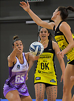 Maia Wilson takes a pass during the 2019 ANZ Premiership netball final match between the Central Pulse and Northern Stars at Te Rauparaha Arena in Wellington, New Zealand on Monday, 3 June 2019. Photo: Dave Lintott / lintottphoto.co.nz