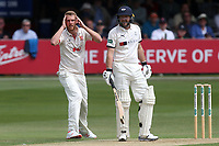 Frustration for Jamie Porter of Essex after his appeal for the wicket of Adam Lyth is turned down during Essex CCC vs Yorkshire CCC, Specsavers County Championship Division 1 Cricket at The Cloudfm County Ground on 7th July 2019