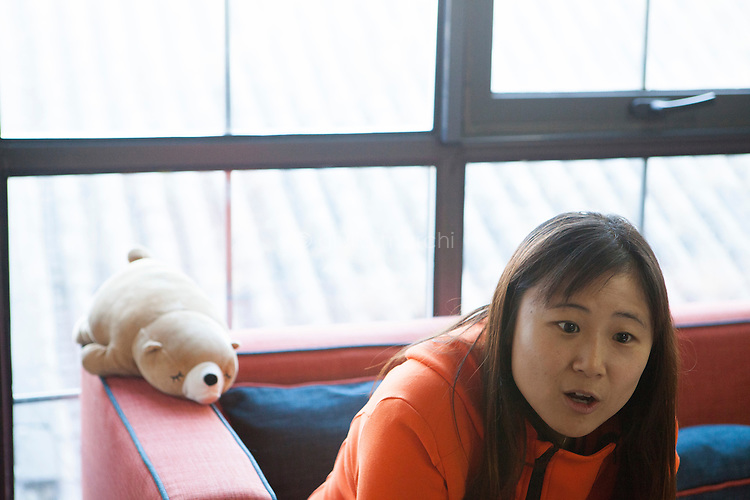 Beijing, China - 8 December 2016. Cindy Mi, 33, founder of VipKid, an online education service to connect kids in China with the best teachers in the US, during the interview with Bloomberg in her office at the Gulou headquarters in Beijing.