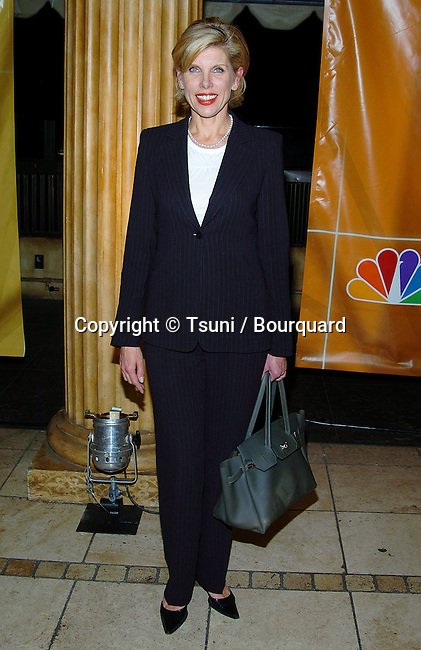 Christine Baranski arriving at the NBC Television All Star Party for tca at the Hollywood and Highland Club in Los Angeles. january 14, 2004