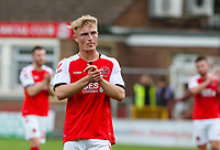 Fleetwood Town's Kyle Dempsey applauds the fans after the match<br /> <br /> Photographer Alex Dodd/CameraSport<br /> <br /> The EFL Sky Bet League One - Fleetwood Town v Accrington Stanley - Saturday 15th September 2018  - Highbury Stadium - Fleetwood<br /> <br /> World Copyright &copy; 2018 CameraSport. All rights reserved. 43 Linden Ave. Countesthorpe. Leicester. England. LE8 5PG - Tel: +44 (0) 116 277 4147 - admin@camerasport.com - www.camerasport.com