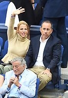 FLUSHING NY- SEPTEMBER 10: Jessica Seinfeld and Jerry Seinfeld at the US Open Men's Final Championship match at the USTA Billie Jean King National Tennis Center on September 10, 2017 in Flushing, Queens. <br /> CAP/MPI/PAL<br /> &copy;PAL/MPI/Capital Pictures