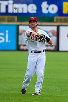 Wisconsin Timber Rattlers catcher Nathan Rodriguez (9) during game one of a Midwest League doubleheader against the Kane County Cougars on June 23, 2017 at Fox Cities Stadium in Appleton, Wisconsin.  Kane County defeated Wisconsin 4-3. (Brad Krause/Krause Sports Photography)