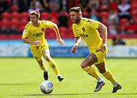 Fleetwood Town's Wes Burns pushes forward<br /> <br /> Photographer David Shipman/CameraSport<br /> <br /> The EFL Sky Bet League One - Doncaster Rovers v Fleetwood Town - Saturday 17th August 2019  - Keepmoat Stadium - Doncaster<br /> <br /> World Copyright © 2019 CameraSport. All rights reserved. 43 Linden Ave. Countesthorpe. Leicester. England. LE8 5PG - Tel: +44 (0) 116 277 4147 - admin@camerasport.com - www.camerasport.com