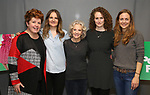 Klea Blackhurst, Gina Costigan, Hayley Mills, Brenda Meaney and Allison Jean White attends the Off-Broadway Meet & Greet Photocall for the cast of 'Party Face' at Theatre Row Studios on November 18, 2017 in New York City.