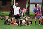 Nigel Bradly awards a try to R. Afoa Peterson in the corner.Counties Manukau Premier Club Rugby, Pukekohe v Ardmore Marist played at the Colin Lawrie field, on the 27th of May 2006.Ardmore Marist won 22 - 6
