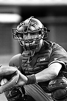 Dusty Wathan of the Lancaster JetHawks during a game at Clear Channel Stadium in Lancaster, California during the 1997 season.(Larry Goren/Four Seam Images)