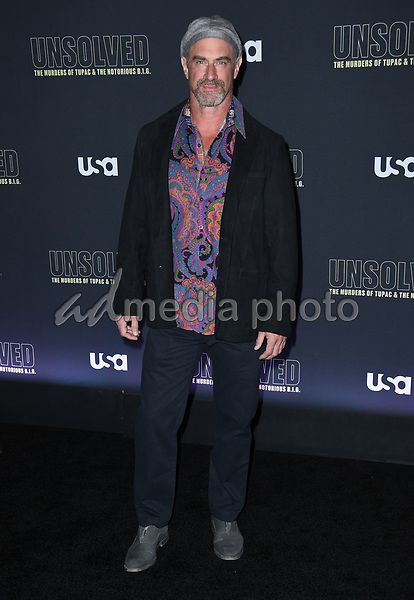 """22 February 2018 - Hollywood, California - Christopher Meloni. USA Network's """"Unsolved: The Murders of Tupac & The Notorious B.I.G."""" held at Avalon Hollywood. Photo Credit: Birdie Thompson/AdMedia"""