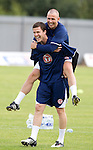 Gary Caldwell and Kenny Miller