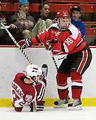 Louis Leblanc (Harvard - 20), Matt Raley (St. Lawrence - 52) - The St. Lawrence University Saints defeated the Harvard University Crimson 3-2 on Friday, November 20, 2009, at the Bright Hockey Center in Cambridge, Massachusetts.